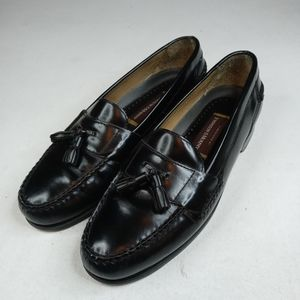 Johnston and Murphy Handcrafted Sz 12 M Black Leat